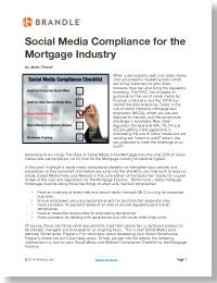 Social Media Compliance Checklist from Brandle, Inc.