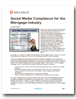 Social Media Compliance Checklist - Mortgage by Brandle, Inc.